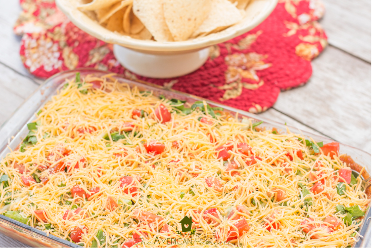 Creamy-beany-cheesy guaca salsa (in other words, seven layer dip)