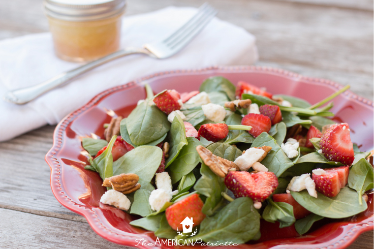 Sweet Strawberry Spinach Salad