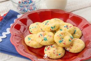 Patriotic Cake Mix Lemonade Cookies