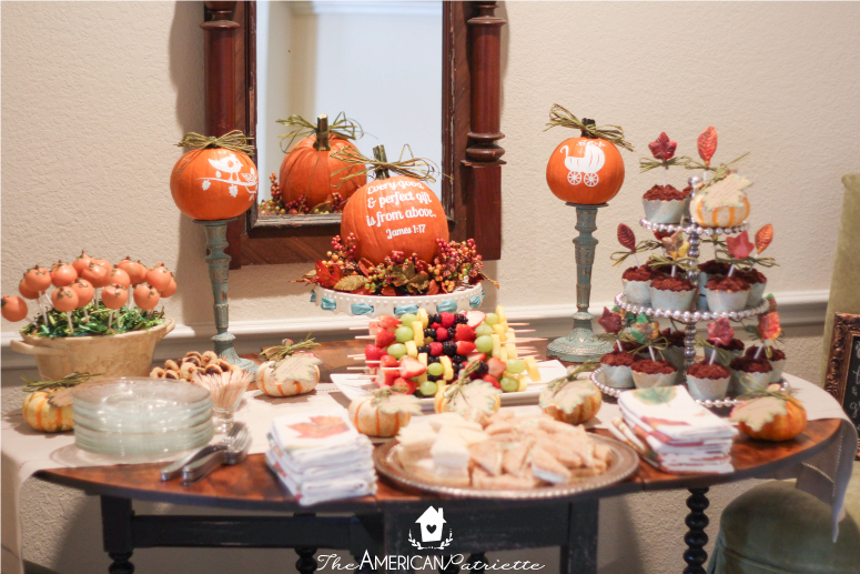 fall themed baby shower the american patriette