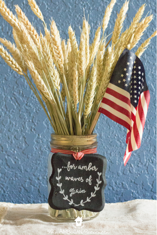 Diy Patriotic Fall Wheat Centerpiece The American Patriette