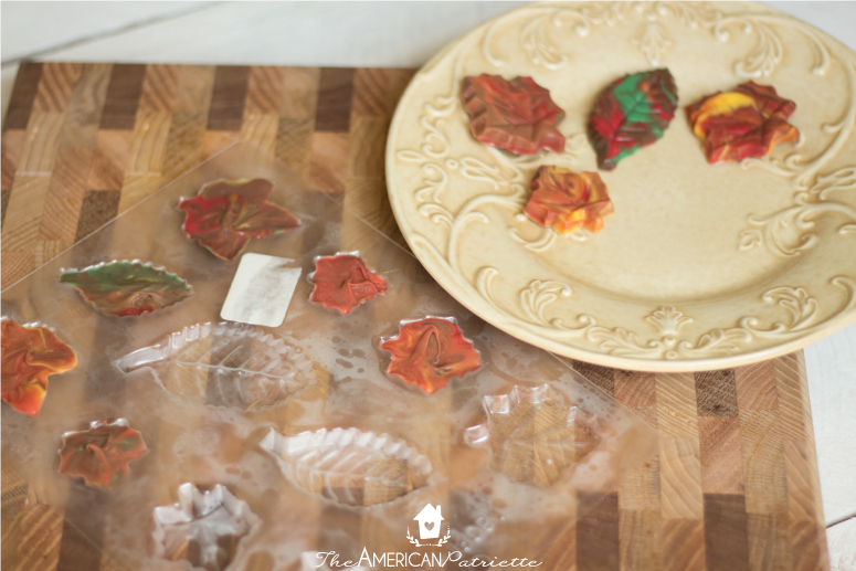 how to make candy fall leaves