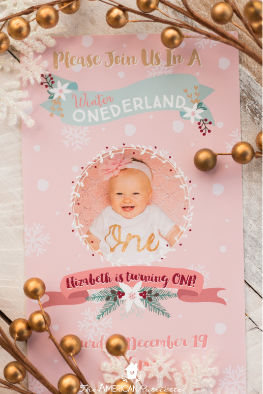 Winter Onederland First Birthday Party The American Patriette
