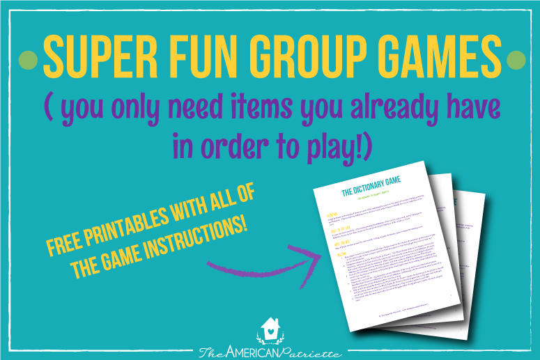 Fun Group Games + Free Printable with Instructions