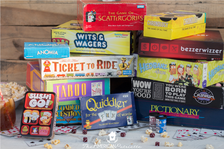 Our 14 Favorite Group Games; Board games for game night; fun family board games