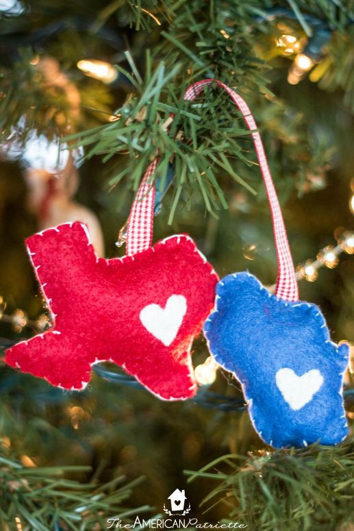 Diy Home State Felt Christmas Ornament The American Patriette