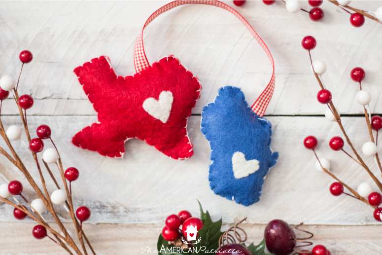 Diy Christmas Decorations Felt : Diy home state felt christmas ornament the american