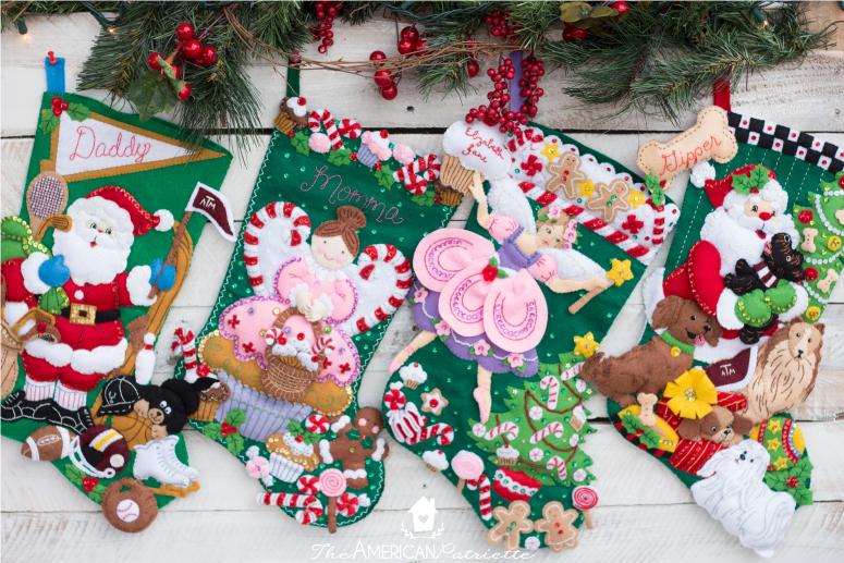 Eight Sentimental Christmas Gift Ideas - Homemade Stocking (Bucilla Stocking Kit) & Eight Sentimental Christmas Gift Ideas - The American Patriette