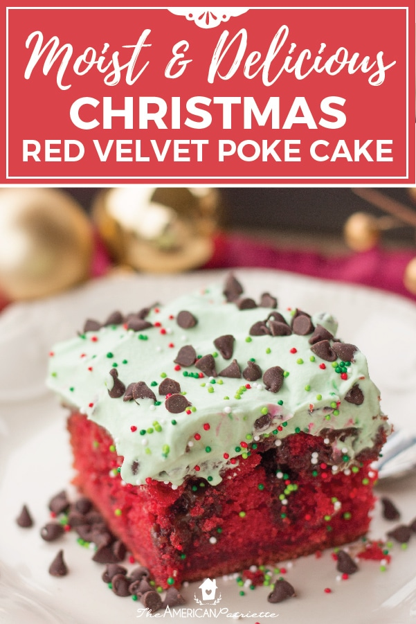 moist and delicious chocolate and red velvet christmas poke cake a super easy fancy