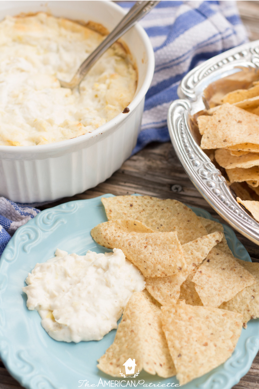 Hot and Cheesy Artichoke Dip - New Years Eve Party Snacks and Games