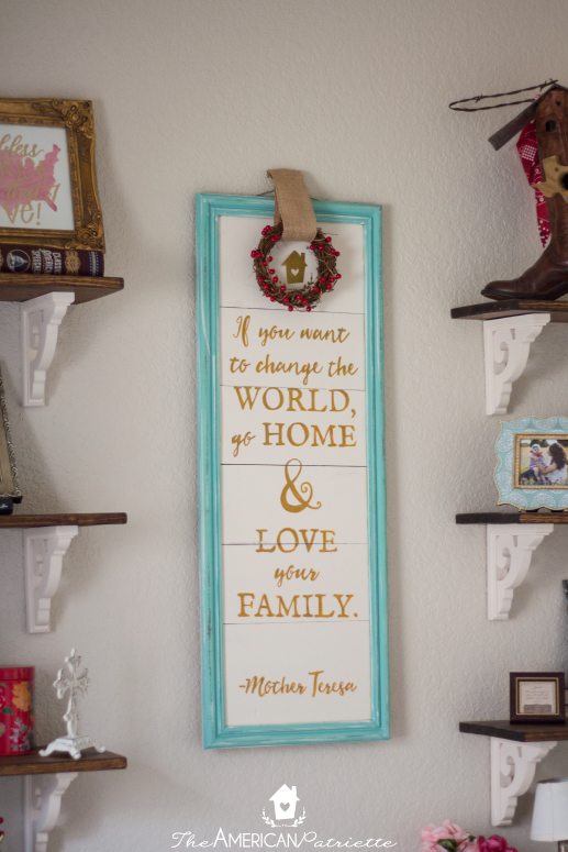 Diy Painted Wooden Plank Sign The American Patriette