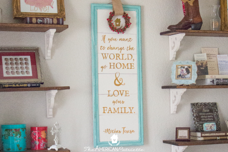 DIY Painted Wooden Plank Sign