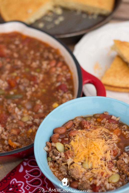 One Pot Cowboy Soup - Hearty, healthy, easy to make, and includes a lot of vegetables