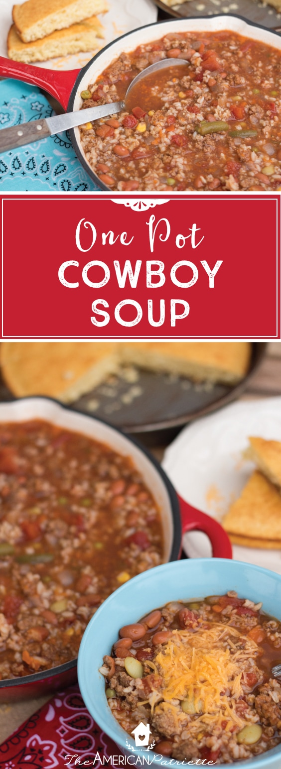 One Pot Cowboy Soup; Easy Weeknight Meal; Easy Healthy Recipes