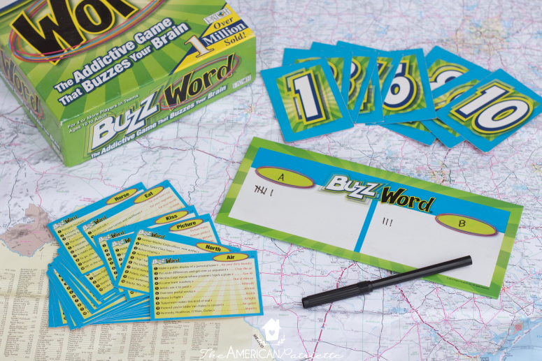 Board Games for Road Trips - 5 board games you can easily play on family road trips/group road trips. All of these are fun for older kids, teens, and adults!