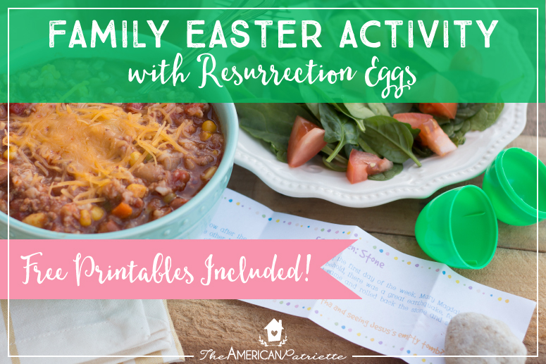 Family Easter Activity with DIY Resurrection Eggs + Free Printables!