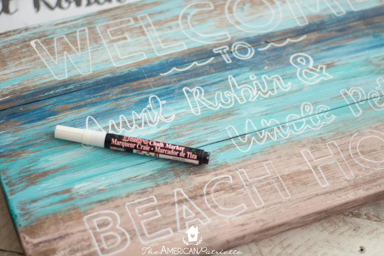Diy Painted Rustic Beach Welcome Sign Easy To Make Lovely