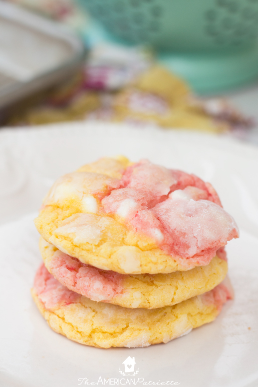 Strawberry Lemonade Cake Mix Cookies - Absolutely Delicious & Easy to Make!