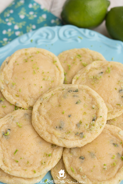 Chewy Lime Basil Cookies - These zesty citrus cookies are absolutely delicious!