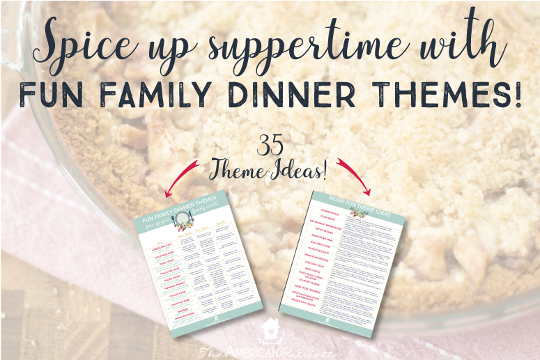 Fun Family Dinner Theme Ideas