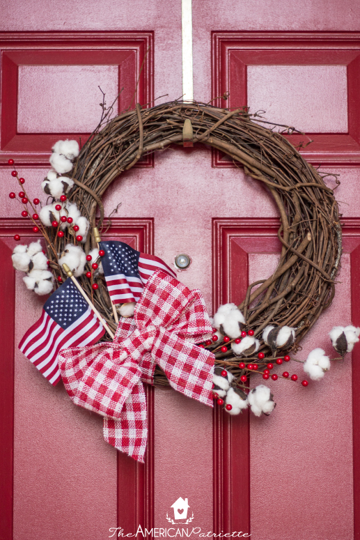 Farmhouse American Flag Wreath The American Patriette