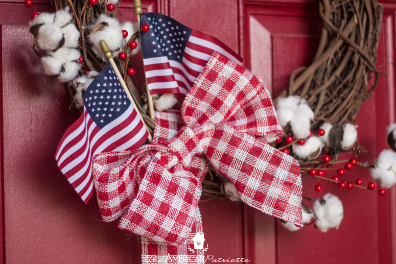 Farmhouse American Flag Wreath