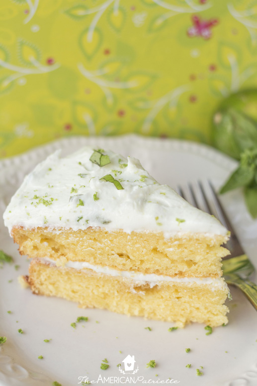 Moist Citrus Pudding Cake with Lime Basil Buttercream Frosting - Incredibly Flavorful, Zesty, and Delicious