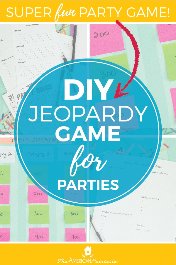 Category Ideas for DIY Trivia or Jeopardy Games (with free
