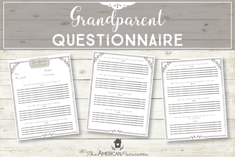 Grandparent Questionnaire
