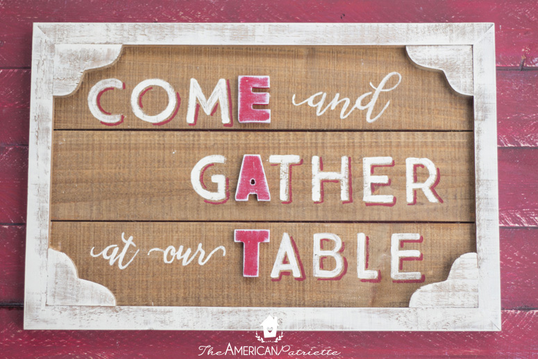 DIY Rustic Country Farmhouse Kitchen Gather Sign