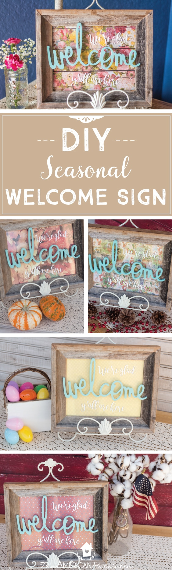 DIY Entryway Welcome Sign for Every Holiday and Season ...