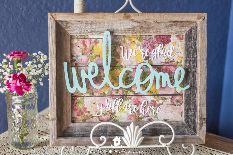 Diy entryway welcome sign for every holiday and season for Diy welcome home decorations