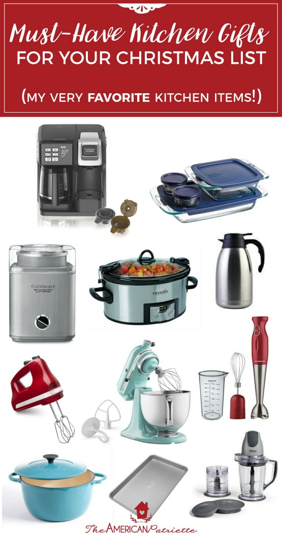 Must Have Kitchen Gifts for Your Christmas List - Gift Guide for the One Who Loves to Cook