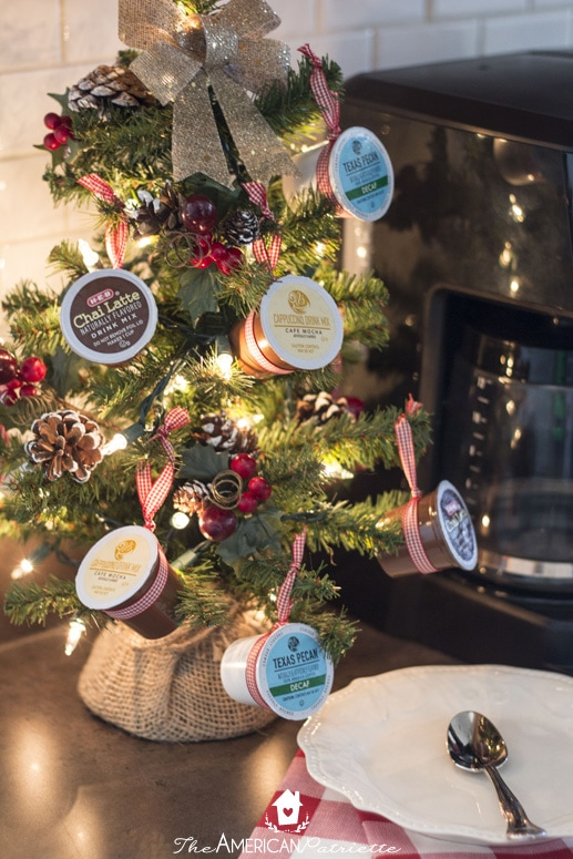 Coffee Christmas Ornament.How To Make A K Cup Coffee Christmas Tree The American