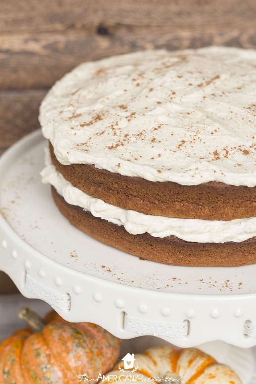 Pumpkin Chai Latte Cake - Delicious take on a favorite cozy fall drink!