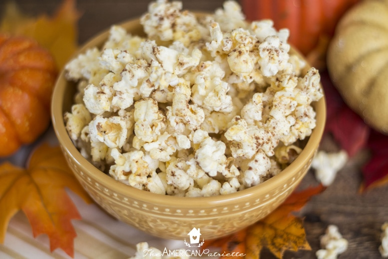 Three Ingredient Pumpkin Spice Popcorn - Fall Family Activity for Little Hands; Easy-to-Make Snack with Kids