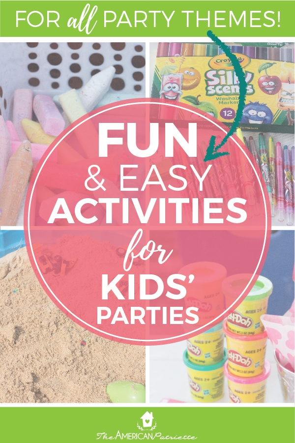5 Fun And Inexpensive Activities For Kids Birthday Parties That