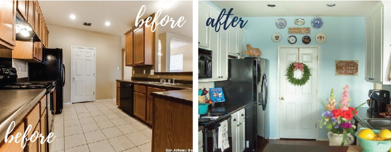 painted white kitchen cabinets before and after. First, Let\u0027s Get Started With A Look At How Our Cabinets Looked Before We  Painted Them The Transformation After Painting White: White Kitchen And