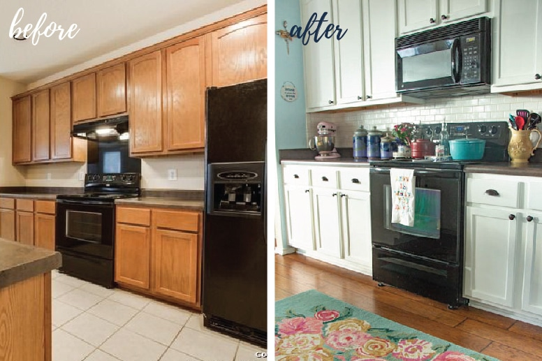 I KNOW! Huge Transformation! So Much Brighter, More Colorful, And  Welcoming. My Kitchen Is Truly A Happy Place.