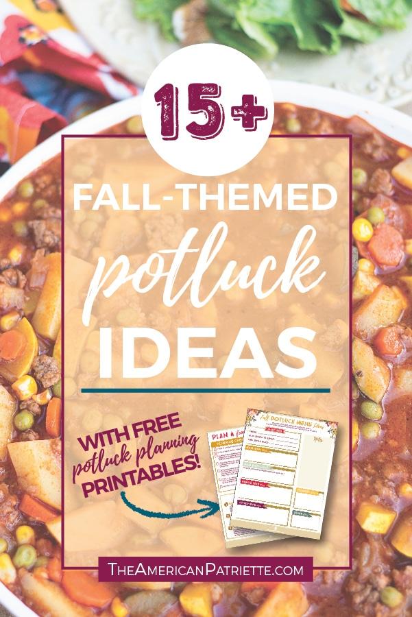 15 fun fall potluck theme ideas with free potluck planning