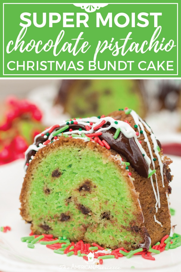 this chocolate pistachio christmas bundt cake is one of the best holiday dessert recipes for the