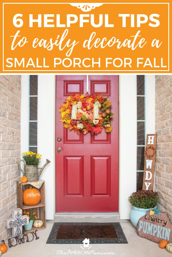 Ideas For Decorating A Small Front Porch For Fall The American